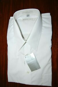 GEOFFREY BEENE WHITE MEN'S LONG SLEEVE DRESS SHIRT 17 34 35     #1