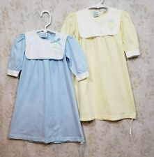 2 Vintage Itsy Bitsy Yellow & Blue Infant, Baby Sacks, Spring, Easter Duck Sz Os