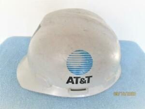 VINTAGEV GARD GREY AT&T PHONE UTLITY HARD HAT HELMET SIZE MEDIUM