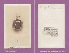CDV MILITAIRE : LE GÉNÉRAL DE LAMORICIÈRE VERS 1865, MÉDAILLES -Q67