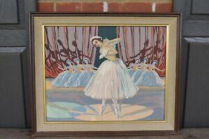 1950'S BALLERINA PAINT-BY-NUMBER PAINTING:PRINCIPAL DANCER & THE CORPS DE BALLET