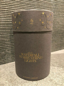 New Restoration Hardware Waterfall Starry String Lights, GOLD, 6 ft, NEW $89