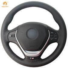 Leather Steering Wheel Cover for BMW F20 F45 F30 F31 F34 F32 F33 F36 14-17 #BM07