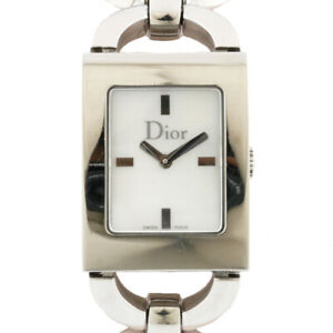 Christian Dior Watches Silver white  Stainless Steel White shell from japan