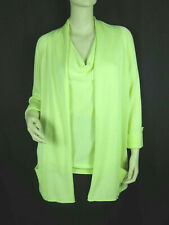 Chico's Lime Green Twinset Size 1 M 8 Draped Sleeveless 