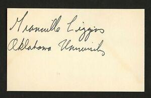 Granville Liggins signed autograph 3x5 card Stampeders Football Player F271