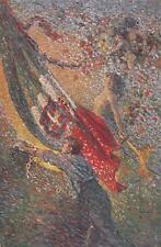 A8980) WW1 ALLEGORICA, UOMO IN CATENE, TRICOLORE E DONNA CON SPADA. VIAGGIATA.