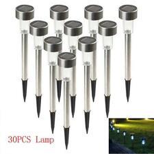 30PCS LED Outdoor Garden Yard Solar Lights Lamp Walkway Path Landscape Lawn