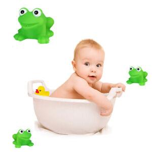 10pcs Funny Frog Baby Bathtub Toys & Floating Bath Toy Rubber Safety Toys UK
