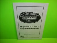 MEGATOUCH XL GOLD Original Video Arcade Game Program CD Upgrade Kit Manual Merit