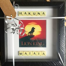 """Lion King """"Hakuna Matata"""" Scrabble Picture Brand New Can Personalise"""