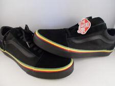 VANS Old Skool Rasta Black/Black Skateboarding Shoes Men's Size 9.5 New In Box