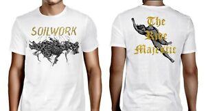 SOILWORK cd cvr THE RIDE MAJESTIC Official WHITE SHIRT XL new