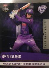 2016 Tap n Play ... BBL Silver Game Card... BEN DUNK .. Hobart HURRICANES.