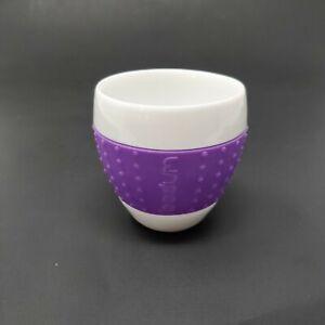 Bodum Pavina Porcelain Espresso Cup Purple Silicone Grip