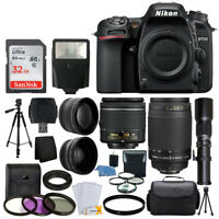 Nikon D7500 DSLR Camera 9 Lens 18-55 VR +70-300 +500MM + 32GB Best Value Bundle
