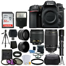 Nikon D7500 DSLR Camera 9 Lens 18-55 VR +70-300 +500MM + 32GB Best Value Bundle