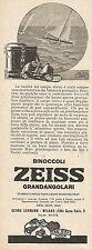 W2079 Binoccoli ZEISS grandangolari - Pubblicità del 1927 - Vintage advertising
