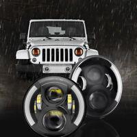 Angel Eye Headlights headlamp H4 for Land Rover Defender 90 110 LED upgrade DOT