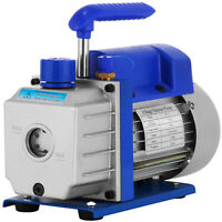 3CFM 1/3 HP Refrigerant Vacuum Pump Refrigeration Gauges Tools Stage R410A R32