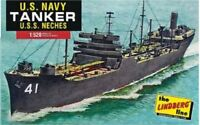 LINDBERG 438 US NAVY TANKER SHIP USS NECHES 1/520 Plastic Model Kit FREE SHIP