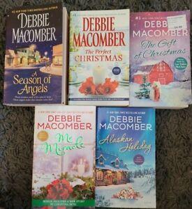 DEBBIE MACOMBER 100% CHRISTMAS THEME ROMANCE PAPERBACK BOOK LOT OF 5 NOVELS