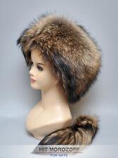 Davy Crockett FINN RACCOON Fur Hat detachable tail Schapka Pelzmütze Fellmütze
