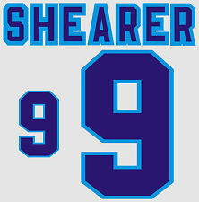 Euro 1996 Shearer 9 England Home Football Name set for National shirt