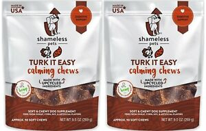 (2 Pack) SHAMELESS PETS Turk It EasyDog Calming Chews | 9.5 Ounce
