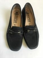 Mephisto Cool Air Shoes Womens Horsebit Black Nubuck Leather Slip On Size US 7.5