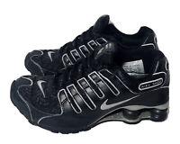 Nike Women's Shox NZ - 309206 003 - Black With Metallic Silver Size 6.5