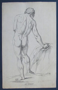 Circa: 1858 Original Antique Historic Anatomy Print - Standing Nude Man