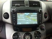AUTORADIO TOYOTA RAV4 NAVIGATORE GPS LETTORE DVD USB SD MP3 COMANDI VOLANTE BT