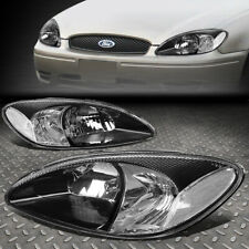 FOR 00-07 FORD TAURUS BLACK HOUSING CLEAR CORNER HEADLIGHT REPLACEMENT HEADLAMP