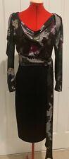 SACHA DRAKE DRESS - - SIZE 8 / 10 - COWL NECK W. SPLIT SLEEVE