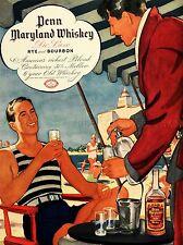 Pubblicità bere alcol American BOURBON WHISKEY segala Usa poster stampa lv665