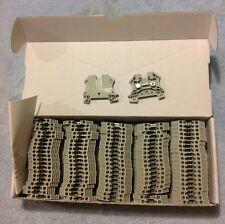 Allen-Bradley 1492-J4, Feed Thru Screw Terminal Block, 4mm, Gray Box Of 100 Pcs