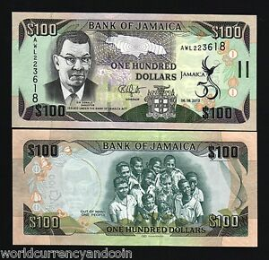 JAMAICA 100 Dollars P90 2012 50th Commemorative Independence UNC MONEY BANK NOTE