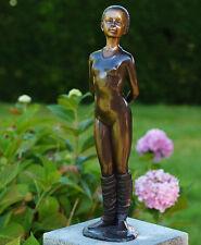 Bronzeskulptur, kleine Ballerina, Mädchen, Dekoration für Haus und Garten *