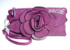 Chic Rich Purple Flower Clutch Bag Purse