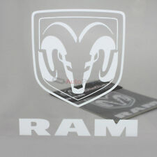 Dodge Ram Clear White Vinyl Window/Glass Decal Emblem Sticker for Car-Truck-SUV