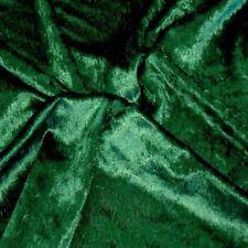 Pannesamt in dunkel grün Dekostoff für Weihnachten Karnevalstoff Meterware TOLKO