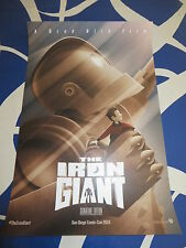 Iron Giant 2016 Comic-Con SDCC exclusive 2 sided promo 11x17 mini movie poster