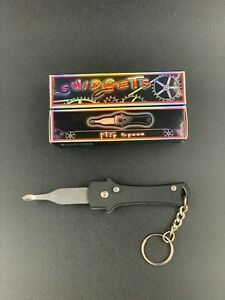 Mini Collectible Keychain Switchblade Flip Spoon Screwdriver Wax Carving Tool