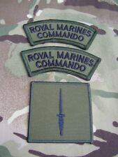 Royal Marines Commando/SBS Combat Jacket/Shirt Black/Green Titles & Dagger Badge