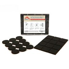"Non Slip Furniture Pads To Protect Floors 24 Pack: 12 Round 2"" & 12 Square 2"""