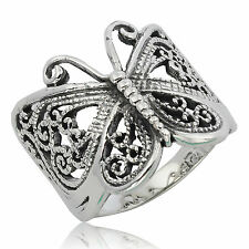 Butterfly Ring  925 Sterling Silver Size = X