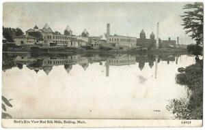 Belding Michigan MI ~ Red Silk Mills Panoramic View ~ C.U. Williams 1912