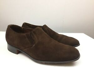 Church's Men's Custom  Brown Suede Dress Shoes - Size Uk 8 F - Good Condition -