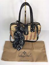 New ListingPatricia Nash Lucena Spring Wicker Satchel Natural & Black Handbag New $199